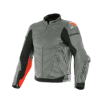 Куртка кожаная Dainese SUPER RACE CHARCOAL-GR/CH.-GR/FLUO-RED