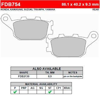 FDB754P Ferodo тормозные колодки