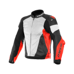 Куртка кожаная Dainese SUPER RACE 90C WH/FLU-RED/BL-MAT