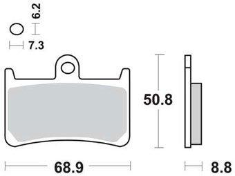 Тормозные колодки Lucas TRW – MCB611SV