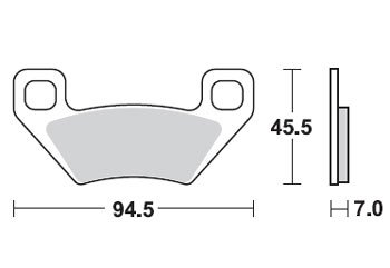 Тормозные колодки Lucas TRW – MCB773SI