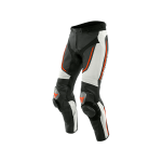 Dainese Брюки кожанные ALPHA I96 WHITE/BLK/FLUO-RED