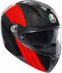 AGV Шлем SPORTMODULAR STRIPES CARBON/RED